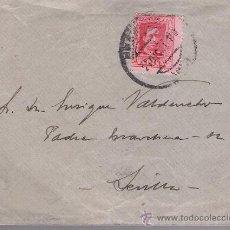 Sellos: CARTA DE MÁLAGA A SEVILLA.DE 21 DE DICIEMBRE DE 1926. FRANQUEADO CON SELLO 317.. Lote 27418048