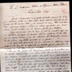 Sellos: CARTA A MARIANO PARDO DE FIGUEROA (1828-1918), DOCTOR THEBUSSEM, DE UN AMIGO. MEDINA SIDONIA, 1895. Lote 28825626
