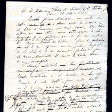 Sellos: CARTA A MARIANO PARDO DE FIGUEROA (1828-1918), DOCTOR THEBUSSEM, DE SU PRIMO. MEDINA SIDONIA, 1895. Lote 28825660