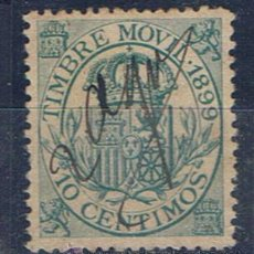 Sellos: ALFONSO XII TIMBRE ESPECIAL MOVIL 1899 EDIFIL FISCALES 10 CTS . Lote 29987961