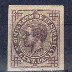 Sellos: ENSAYOS DE COLOR ALFONSO XII 1876 EDIFIL 183 NUEVO* SIN DENTAR NO EMITIDO IMPUESTO DE GUERRA. Lote 30084696