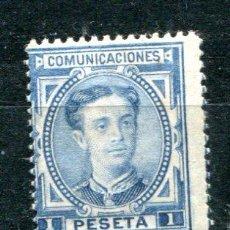 Sellos: EDIFIL 180. 1 PTS ALFONSO XII. AÑO 1876. NUEVO CON LIGERA SEÑAL DE FIJASELLOS.. Lote 30204306