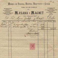 Sellos: FACTURA MANRESA 1882 CON SELLO DE ALFONSO XII. Lote 30963058