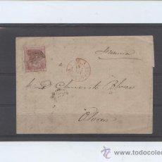Sellos: CARTA DE BARBASTRO (HUESCA) A OLORON (FRANCIA). CON SELLO EDIFIL 166. Lote 30995123
