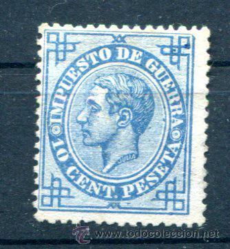 10 CTS IMPUESTO DE GUERRA. AÑO 1876. NUEVO SIN GOMA. (Sellos - España - Alfonso XII de 1.875 a 1.885 - Nuevos)