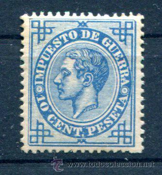 10 CTS IMPUESTO DE GUERRA. AÑO 1876. MUY BIEN CENTRADO. GOMA REGULAR. (Sellos - España - Alfonso XII de 1.875 a 1.885 - Nuevos)