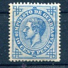 Sellos: 10 CTS IMPUESTO DE GUERRA. AÑO 1876. MUY BIEN CENTRADO. GOMA REGULAR.. Lote 31276653