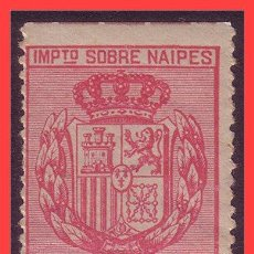 Sellos: FISCALES TIMBRE SOBRE NAIPES 1880 ALEMANY Nº 1 * *. Lote 31750074