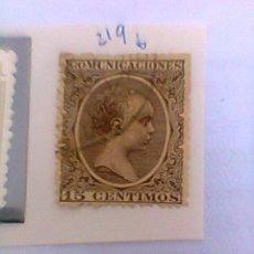Sellos: SELLO DE ALFONSO XII. 1889-99. 15 CTS. (219 CATALOGO). Lote 31899421