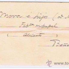 Timbres: CIRCULADO 1907 CON EDIFIL 173 CIRCULADO MADRID BANYERES CON DOCUMENTO ASOCIACION DE TRABAJADORES . Lote 32370079
