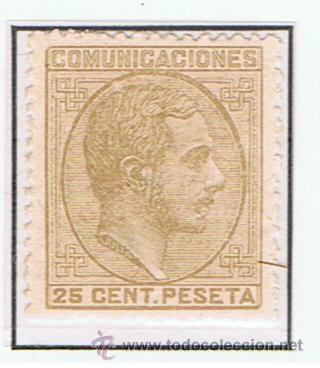 ALFONSO XII COMUNICACIONES 1878 NUEVO* EDIFIL 194 VALOR 2012 CATALOGO 32.-- EUROS (Sellos - España - Alfonso XII de 1.875 a 1.885 - Nuevos)