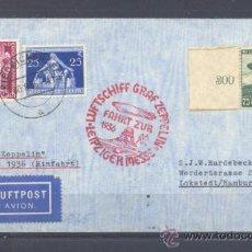 Sellos: 1936.- ALEMANIA A HAMBURGO (ALEMANIA)- ZEPPELIN. Lote 35391137