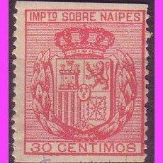 Sellos: FISCALES 1880 IMPUESTO SOBRE NAIPES, ALEMANY Nº 1 * *. Lote 37792132