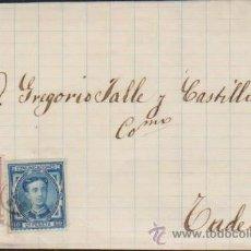 Sellos: CARTA DE (?) A TUDELA.FRANQUEADO CON EDIFIL 175 Y 188.. Lote 38435689