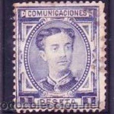 Timbres: ESPAÑA 180 - ALFONSO XII. 1 P. AZUL 1876. USADO PRECIOSO. CAT.18 €.. Lote 38771495