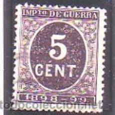 Sellos: ESPAÑA 236 - CIFRAS. DE 1898. 5 C. NEGRO. USADO LUJO. CAT. 5€.. Lote 38771771