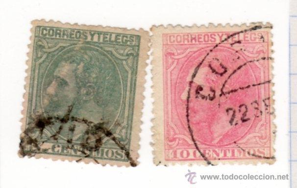 REINADO DE ALFONSO XII ED. Nº 201 Y 202 (Sellos - España - Alfonso XII de 1.875 a 1.885 - Usados)