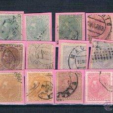 Sellos: ESPAÑA. CONJUNTO DE 23 SELLOS DE ALFONSO XII CON VALOR DE CATALOGO 104.30 EUROS. Lote 40317070