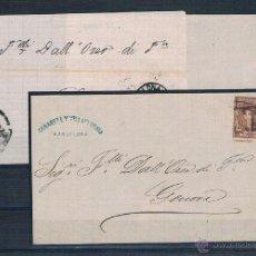 Sellos: ESPAÑA. TRES FRONTALES DE CARTAS CIRCULADOS DESDE BARCELONA A GENOVA. Lote 40333467