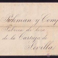 Sellos: ESPAÑA.(CAT.210).1883.CARTA DE MÁLAGA A SEVILLA.15 C.SIN MAT. POR DESCUIDO DEL FUNCIONARIO. MUY RARA. Lote 24993058