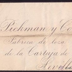 Sellos: ESPAÑA.(CAT.210).1886.CARTA DE VITORIA A SEVILLA.15 C.SIN MAT. POR DESCUIDO DEL FUNCIONARIO.MUY RARA. Lote 26170024