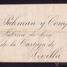 Sellos: ESPAÑA. (CAT. 210).1885. CARTA DE MADRID A SEVILLA.15 CTS. SIN MAT. POR DESCUIDO. LLEGADA. MUY RARA.. Lote 23890740