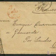 Sellos: 1880 CARTA - ALFONSO 25C A FRANCIA CON FECHADOR TREBOL ESTAFETA DE CAMBIO. Lote 41394131