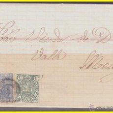 Sellos: 1875 ALFONSO XII, CARTA DE LUCENA A MÁLAGA, EDIFIL Nº 154 Y 164. Lote 42239272