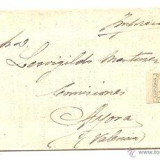 Sellos: SEVILLA - ENVUELTA CONCIERTO INDUSTRIAL MERCANTIL DE SEVILLA A AYORA (VALENCIA) - FINALES S. XIX. Lote 43019623
