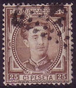 ESPAÑA. (CAT. 177). 25 CTS. BUEN CENTRAJE. MAGNÍFICO. (Sellos - España - Alfonso XII de 1.875 a 1.885 - Usados)