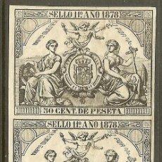 Sellos: FISCALES - 2 PÓLIZAS 1878. Lote 44983769