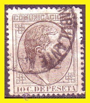 1878 ALFONSO XII, EDIFIL Nº 192 (O) AMBULANTE (Sellos - España - Alfonso XII de 1.875 a 1.885 - Usados)