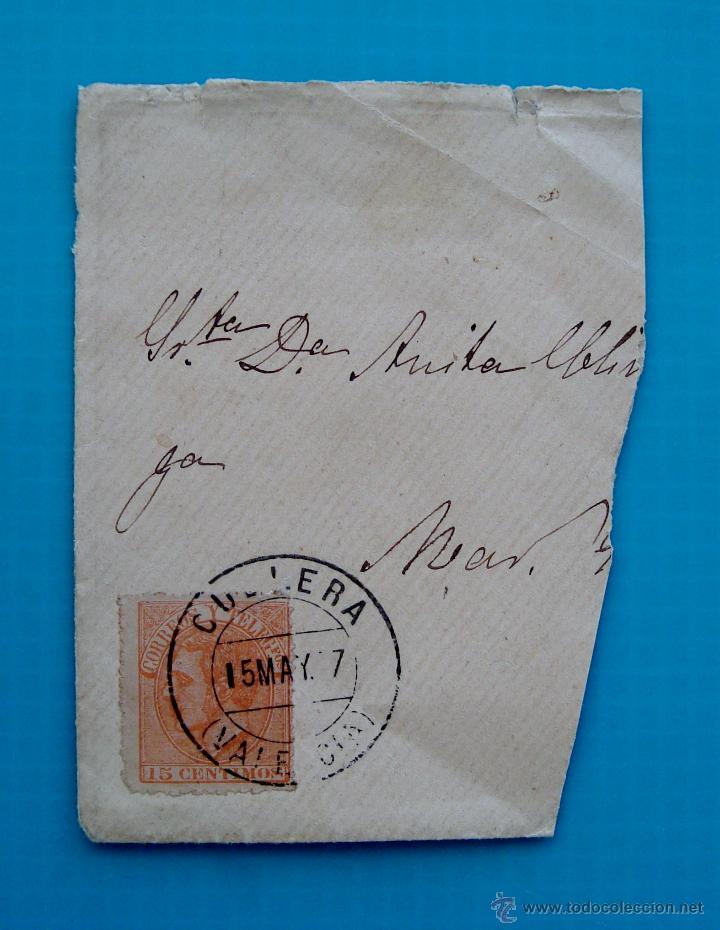 CARTA ESPAÑA AÑO 1887 EDIFIL 210 MATASELLOS DE CULLERA VALENCIA (Sellos - España - Alfonso XII de 1.875 a 1.885 - Cartas)