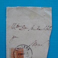 Sellos: CARTA ESPAÑA AÑO 1887 EDIFIL 210 MATASELLOS DE CULLERA VALENCIA. Lote 45714037