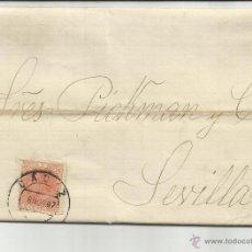 Francobolli: CIRCULADA 1887 DE CADIZ A SEVILLA COMPROMISO DE UN JARRO VER FOTO. Lote 46740523