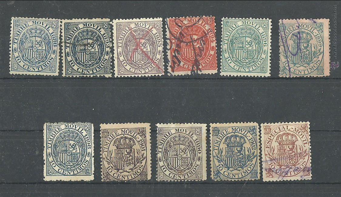 TIMBRE MOVIL SELLOS FISCALES (Sellos - España - Alfonso XII de 1.875 a 1.885 - Usados)