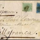 Sellos: 1875.- FRONTAL CON 2 SELLOS Nº154 Y 164, IMPTO. DE Gª. Y ALFONSO XII CON PARRILLA PEQUEÑA DE PUNTOS. Lote 47097749