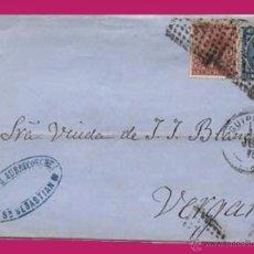 Sellos: 1878.-CARTA ENVUELTA BICOLOR CON Nº 175 Y 188 EDIFIL DE SAN SEBASTIAN A VERGARA Y MARCA COMERCIAL.. Lote 47098111