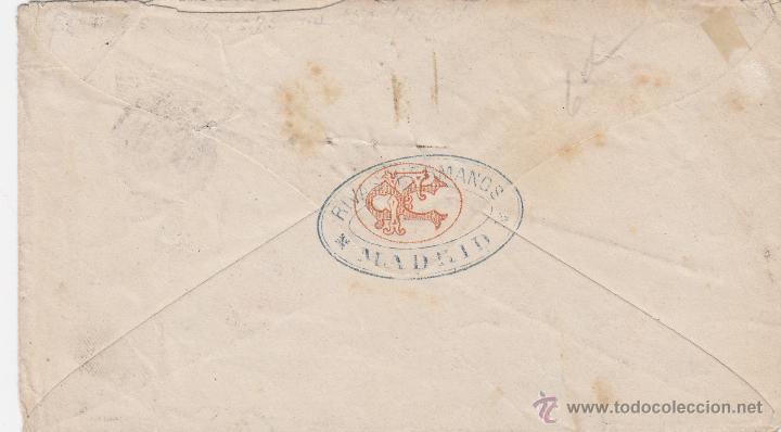 Sellos: HISTORIA POSTAL : CARTA oblit ALFONSO XII nº 166 rosa 1875 MADRID / PARÍS- FRANCIA - Foto 2 - 47372193