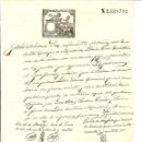 Sellos: HOJA CON SELLO FISCAL 12ª CLASE AÑO 1884 DE 75 CENTIMOS CON TIMBRE MOVIL Y SELLO NOTARIAL DE MADRID. Lote 48297944