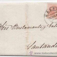 Sellos: CARTA MATASELLO PUENTE MADRID 1882, ALFONSO XII.. Lote 48340398
