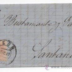 Sellos: CARTA MATASELLO PUENTE, LEON 1882, ALFONSO XII.. Lote 48340986