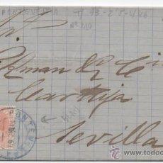 Sellos: CARTA MATASELLO PUENTE AZUL, PONTEVEDRA 1883, ALFONSO XII.. Lote 48341152