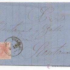 Sellos: CARTA MATASELLO TREBOL BURGOS 1882. Lote 48490297
