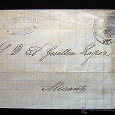 Sellos: CARTA CIRCULADA CON SELLO DE ALFONSO XII DE 25 CENTIMOS . 11 AGOSTO 1880. Lote 48528457