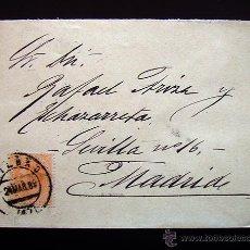 Sellos: CARTA CIRCULADA CON SELLO DE ALFONSO XII DE 15 CENTIMOS . 1889. Lote 48528481