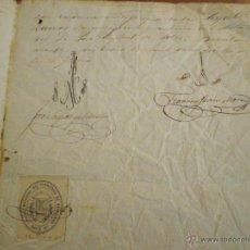 Sellos: 1876 SELLO COLEGIO NOTARIAL BARCELONA 12 REALES DOCUMENTO MANUSCRITO FISCAL 11º DE 50 CTS. TIMBRE . Lote 49034091