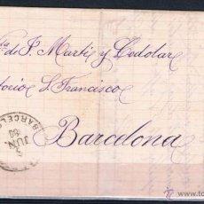 Sellos: 1880.- MANRESA (BARCELONA) / BARCELONA. Lote 49879527