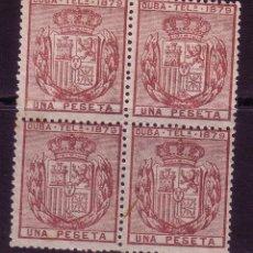 Sellos: CL3-19-COLONIAS CUBA TELEGRAFOS 1 PTA 1872 BLOQUE DE 4 NUEVO ** SIN FIJASELLOS. Lote 51114962
