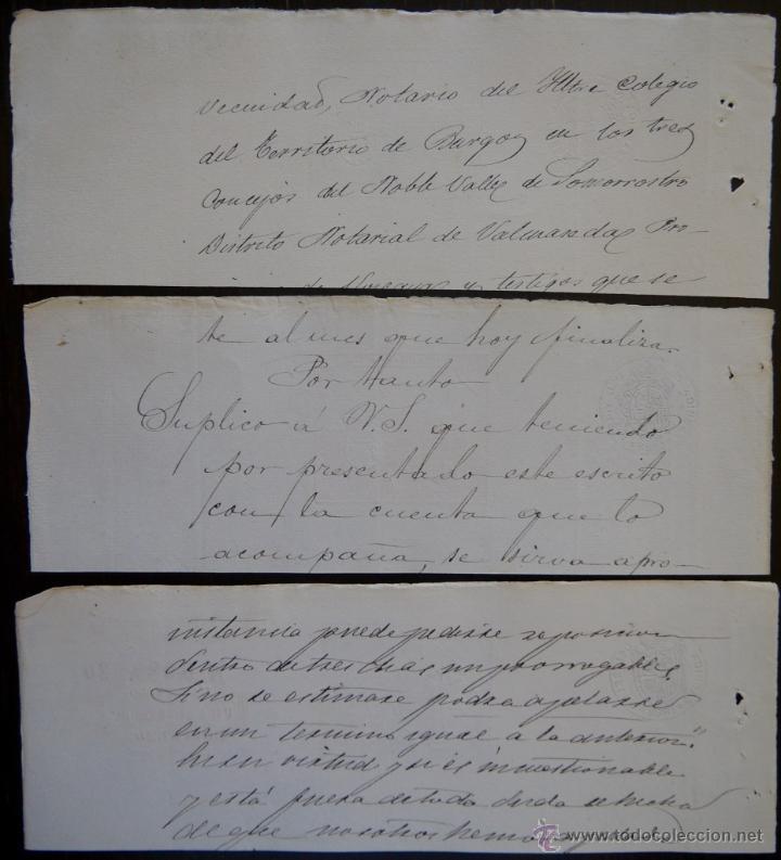 Sellos: TRES SELLOS CLASICOS FISCALES 1882, 1883 Y 1883. ANTIGUOS SELLOS FISCALES TIMBROLOGIA FILATELIA FISC - Foto 2 - 51389219